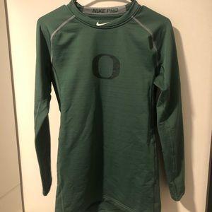 U of Oregon Mens Nike Pro Fitted Warm Long Sleeve